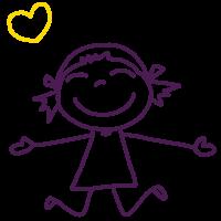 ילדה מחייכת לצור קשר